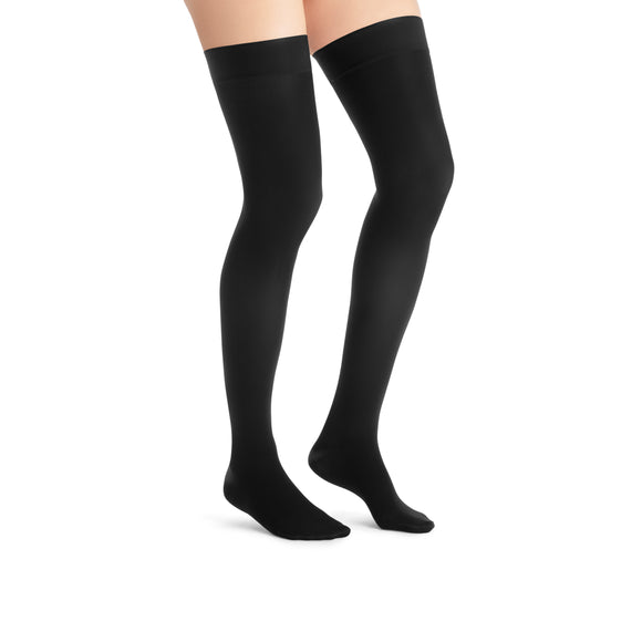 Jobst UltraSheer 20-30 mmHg Closed Toe Dot Band Thigh High Women's Compression Stockings