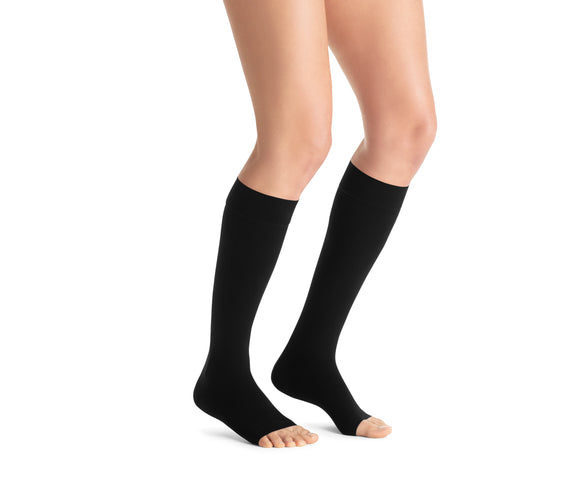 Jobst Opaque 15-20 mmHg Open Toe Knee Women's Compression Stockings