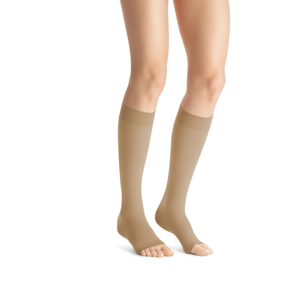 Jobst Opaque 20-30 mmHg Open Toe Knee High Compression Stockings
