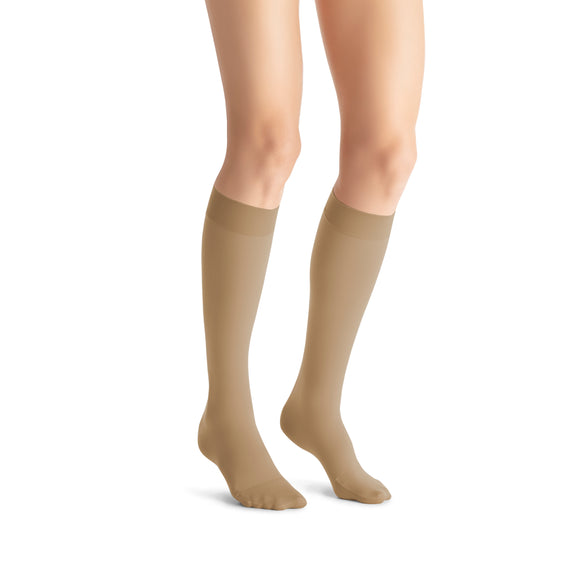 Jobst Opaque Knee 15-20 mmHg Closed Toe Women's Compression Stockings