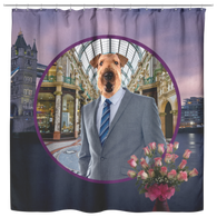 Bingley Airedale Terrier Shower Curtain - The Green Gypsie