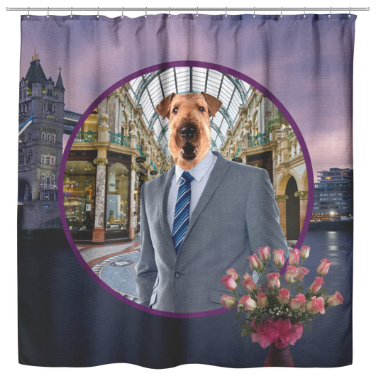 Bingley Airedale Terrier Shower Curtain