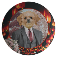 Ollie Shih Tzu Plate - The Green Gypsie