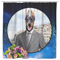 Cooper Doberman Shower Curtain - The Green Gypsie