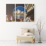 Australia 3 Piece Canvas