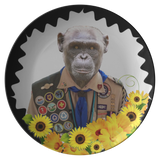 Chip Boy Scout Monkey Plate - The Green Gypsie