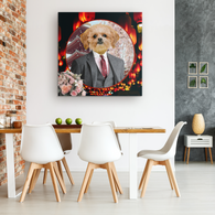 Ollie Shih Tzu Square Canvas - The Green Gypsie