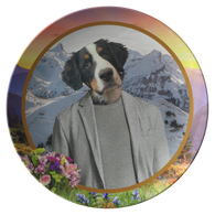 Bernie Bernese Mountain Dog Plate - The Green Gypsie