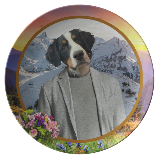Bernie Bernese Mountain Dog Plate