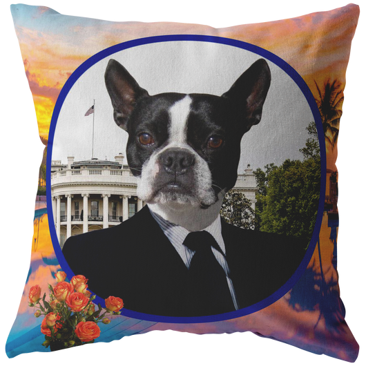 Buddy Boston Terrier Pillow - The Green Gypsie