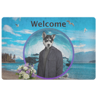 Niko Siberian Huskie Doormat - The Green Gypsie