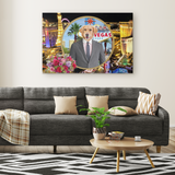 Johnny Golden Retriever Rectangle Canvas - The Green Gypsie