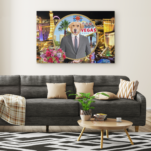 Johnny Golden Retriever Rectangle Canvas