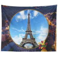 France Eiffel Tower Tapestry