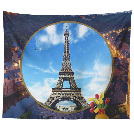 France Eiffel Tower Tapestry - The Green Gypsie