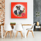 Bruce Bulldog Square Canvas