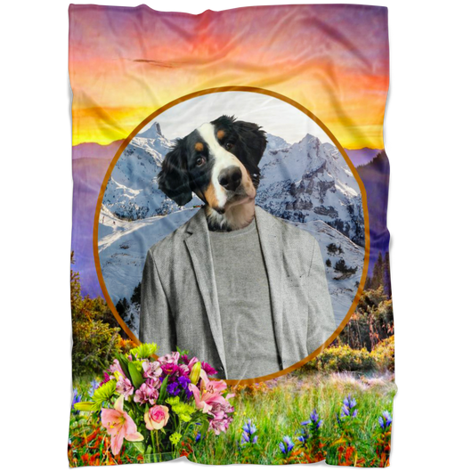 Bernie Bernese Mountain Blanket