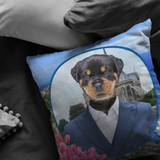 Randy Rottweiler Pillow - The Green Gypsie