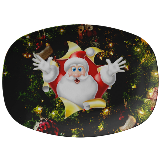 Santa Holiday Platter - The Green Gypsie