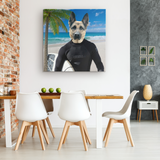 Gizmo German Shepherd Square Canvas - The Green Gypsie