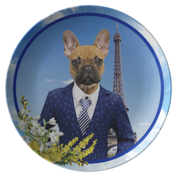 Finn French Bulldog Plate