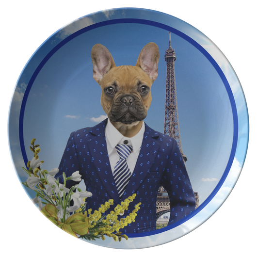 Finn French Bulldog Plate - The Green Gypsie