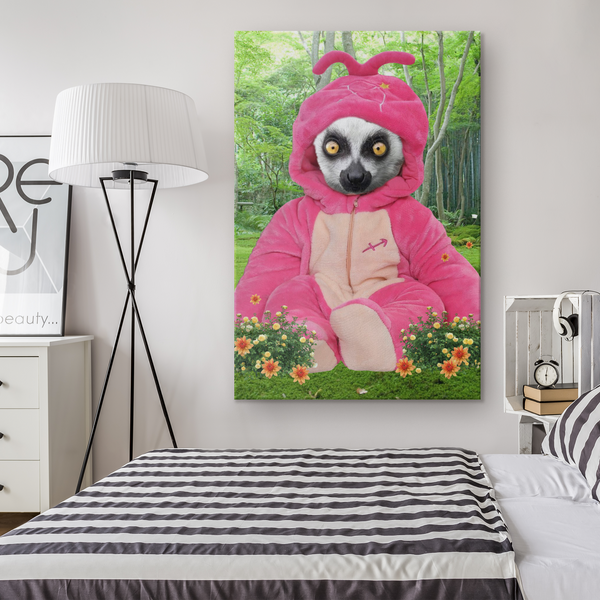 Lexie Lemur Rectangle Canvas - The Green Gypsie