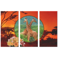 Lucy & Ricky Giraffe 3 Canvas Set - The Green Gypsie