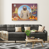 Rory Sloth Rectangle Canvas - The Green Gypsie