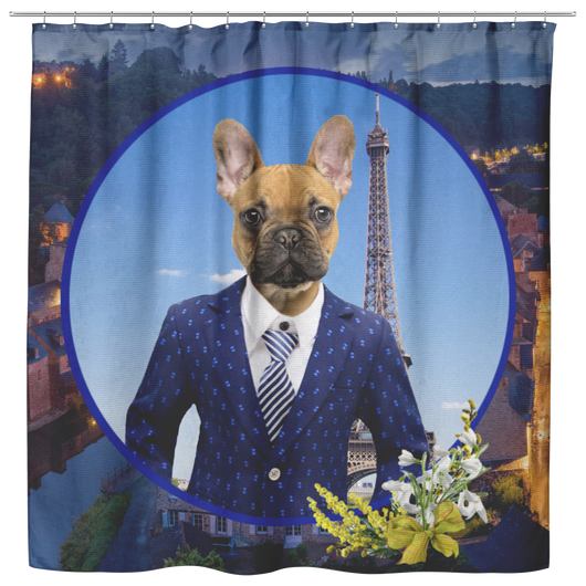 Finn French Bulldog Shower Curtain - The Green Gypsie