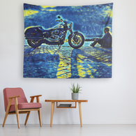 Motorcycle - Starry Night Tapestry - The Green Gypsie
