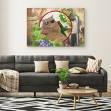 Kitty Cat Rectangle Canvas - The Green Gypsie