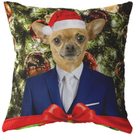 Chico Beach Chihuahua Holiday Pillow