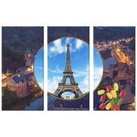 France Eiffel Tower 3 Canvas Set - The Green Gypsie