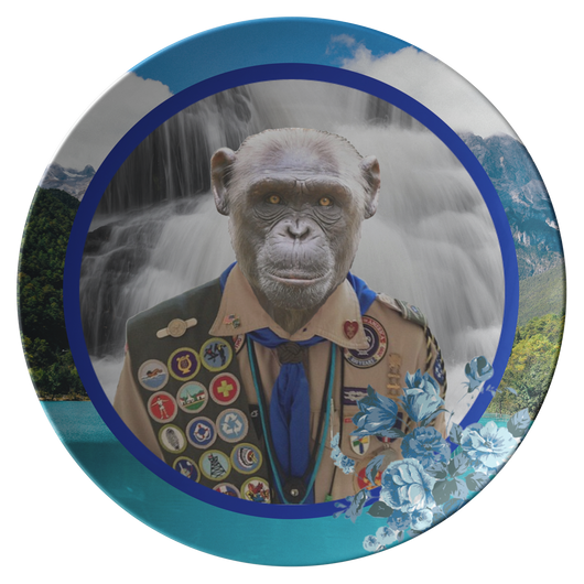 Chip Boy Scout Monkey Plate