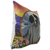 Bernie Bernese Mountain Dog Pillow - The Green Gypsie