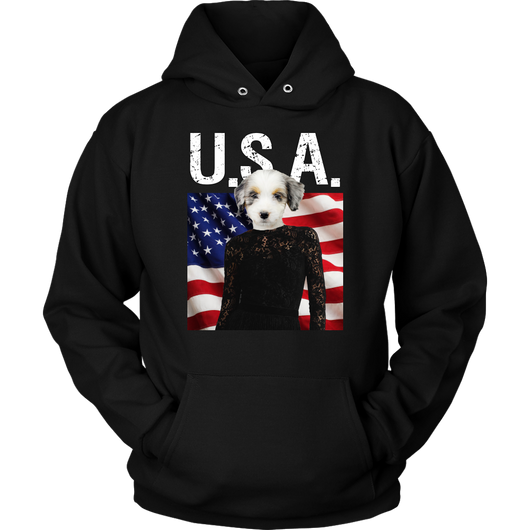 Holly Australian Shepherd USA Hoodie - The Green Gypsie