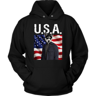 Niko Siberian Huskie USA Hoodie - The Green Gypsie