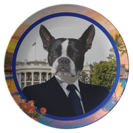 Buddy Boston Terrier Plate - The Green Gypsie