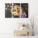 Champagne 3 Canvas Set - The Green Gypsie