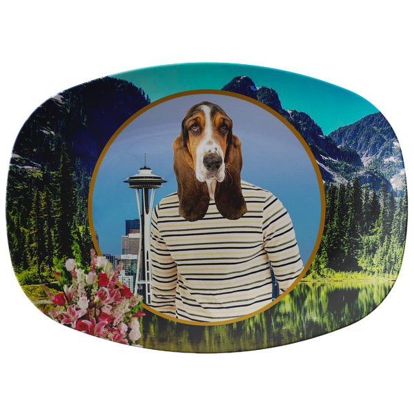 Henry Basset Hound Platter - The Green Gypsie