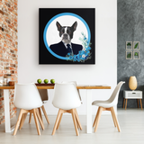 Buddy Boston Terrier Square Canvas - The Green Gypsie