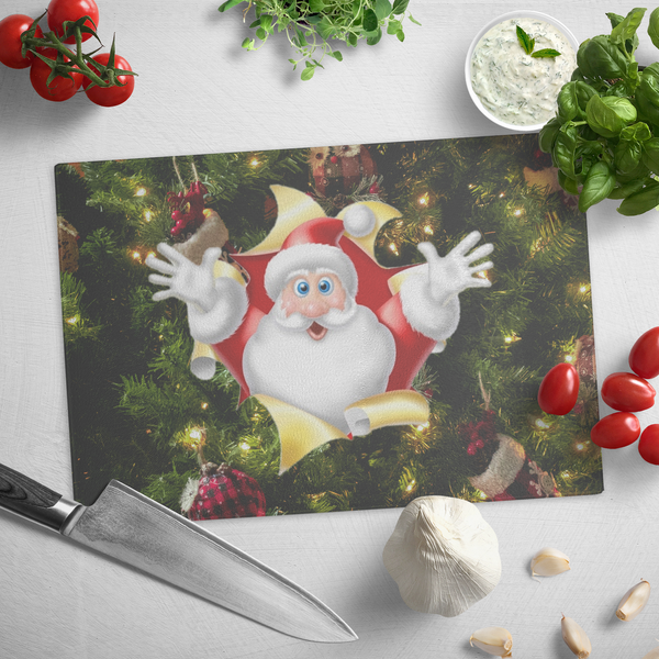 Santa Tree Cutting Board