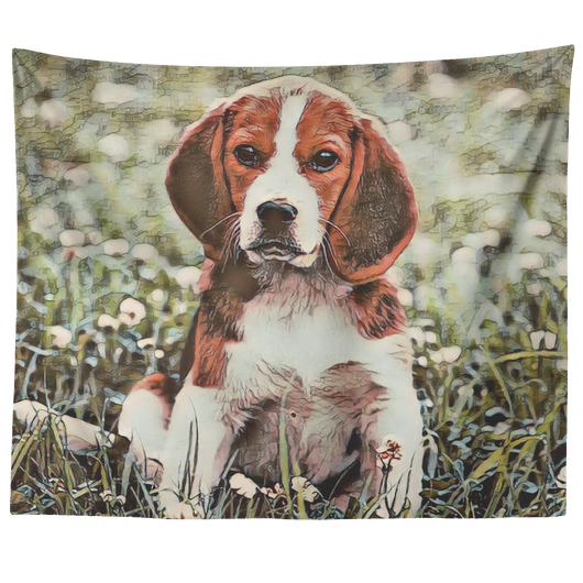 Beagle Art Tapestry - The Green Gypsie