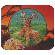 Lucy & Ricky Giraffe Mouse Pad - The Green Gypsie