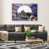 Harley Motorcycle Rectangle Canvas - The Green Gypsie