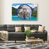 Chip Boy Scout Monkey Rectangle Canvas - The Green Gypsie