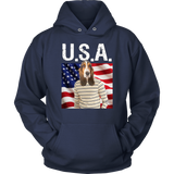 Henry Basset Hound USA Hoodie - The Green Gypsie