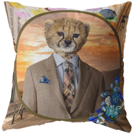 Chester Cheetah Pillow - The Green Gypsie