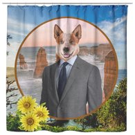 Harry Australian Cattle Dog Shower Curtain